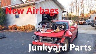 Rebuilding a Wrecked 2016 Dodge Hellcat Part 2
