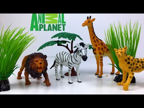 ANIMAL PLANET SAFARI KOLLEKTION MIT WILDTIERE - LEBEN IM DSCHUNGEL DER LÖWE ELEFANT GIRAFFE UND MEHR