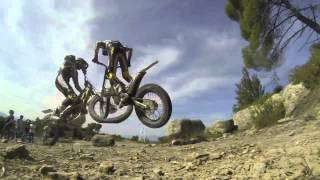 preview picture of video '2013 Albert Cabestany trial motorcycle 180º slow motion - Audiovisual Barcelona'