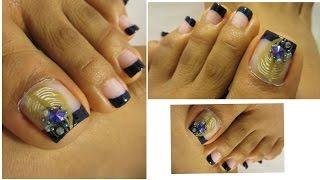 Unas Decoradas De Pies Faciles Y Elegantes Easy Design Toe Nail Art