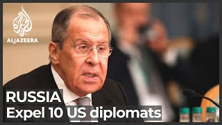 Russia to expel 10 US diplomats in response to US sanctions