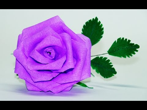 Flowers making | How To Make Rose Paper Flower