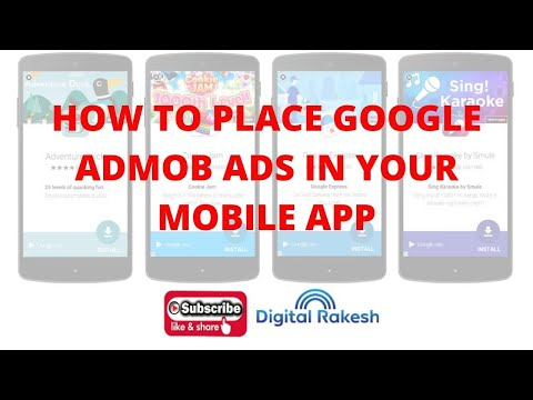 How to place google admob ads in your mobile app  Adding Google Admob Ads to Android App