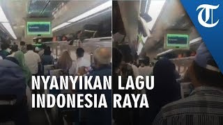 Viral Momen Lagu 'Indonesia Raya' Diputar di Kereta, Semua Penumpang Berdiri, Lihat Videonya