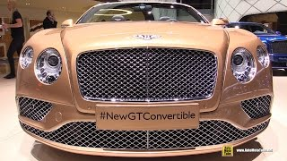 2016 Bentley Continental GT Convertible - Exterior and Interior Walkaround - 2015 Geneva Motor Show