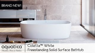 Coletta™ White Freestanding Solid Surface Bathtub - Infomercial
