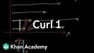 Curl 1 | Partial derivatives, gradient, divergence, curl | Multivariable Calculus | Khan Academy