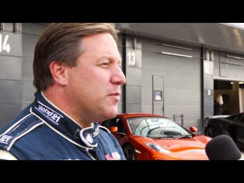 Zak Brown McLaren MP4-16A Shakedown Silverstone