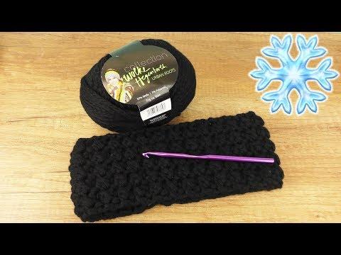 Stirnband Häkeln aus halben Stäbchen & Kettmaschen | Super einfach & warm | Winter Häkel Idee