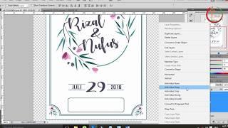 Membuat Desain Undangan Pernikahan Kren dan Murah di Photoshop part 1