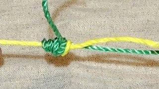 Узел для связывания лески и шнура