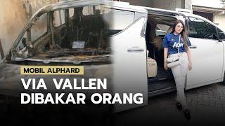 Detik-detik Via Vallen Menyaksikan Mobil Kesayangannya Terbakar, Diduga Sengaja Ada yang Bakar