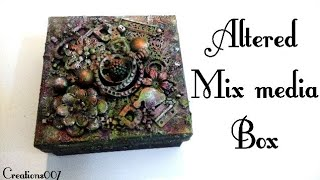 Mix Media Altered Box Tutorial With Finnabair Waxs