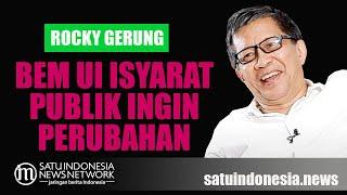 ROCKY GERUNG: AKSI BEM UI ISYARAT PUBLIK INGIN PERUBAHAN