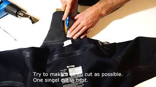 Resize the neoprene neck seal on your drysuit