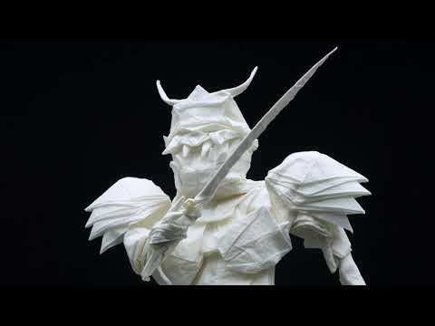 Origami Samurai Folded From a Single Piece of Paper