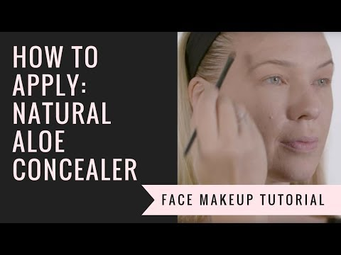 How to Apply our Natural Aloe Concealer  |  Afterglow Cosmetics
