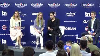 ESCKAZ in Lisbon: Press conference from MELOVIN (Ukraine)