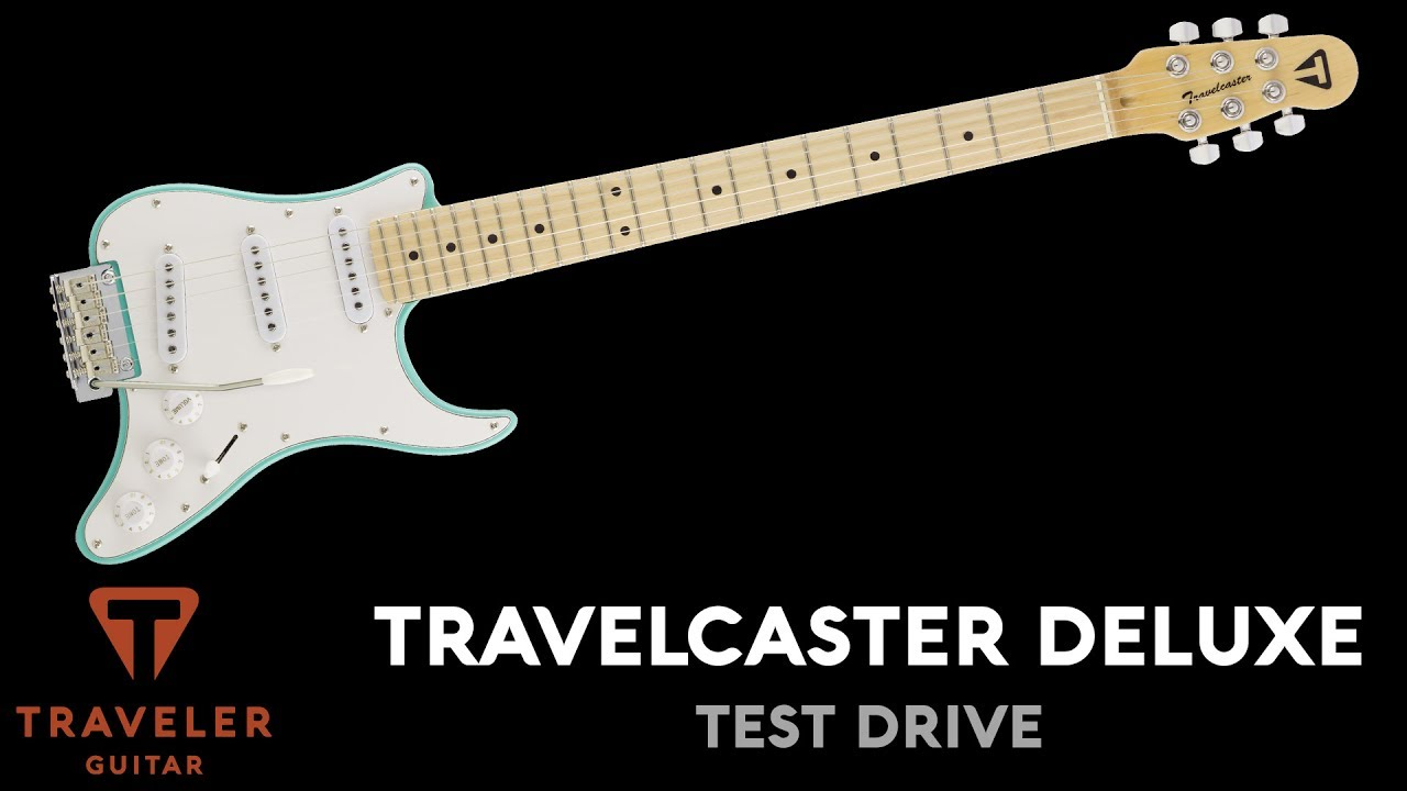 Traveler Guitar Travelcaster Deluxe Electric Guitar Test Drive Product Demo