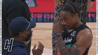DeMar DeRozan & Kyle Lowry Share a Moment after the Game - Spurs vs Raptors   April 14, 2021