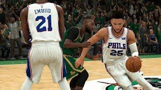 NBA Today 12/12 Boston Celtics vs Philadelphia 76ers Full Game Highlights (NBA 2K)