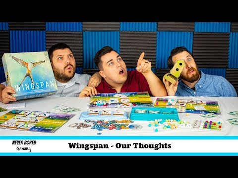 Never Bored Gaming - Our Thoughts (Wingspan)