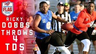 Former Navy Standout Ricky Dobbs throws 4 TDs in Flag Football Quarterfinals! | NFL