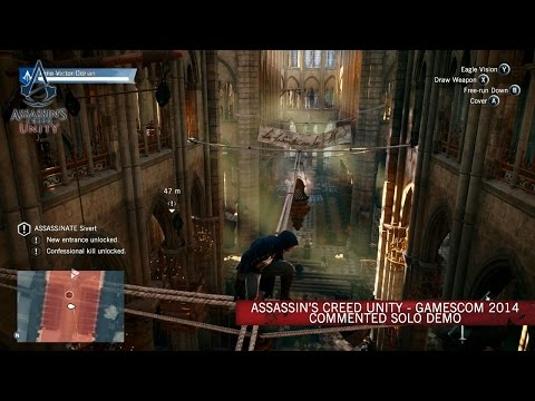 Assassin's Creed Unity GamesCom 2014 Commented Solo Demo [SCAN]
