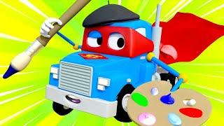 Videa s náklaďáky pro děti - Superumělec - Supernáklaďák ve Městě Aut
