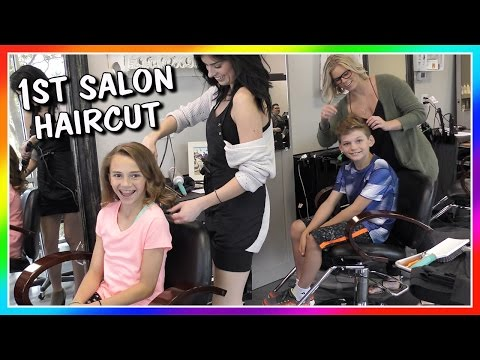 OUR FIRST SALON HAIRCUT EVER! | We Are The Davises