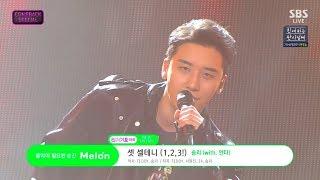 SEUNGRI   '셋 셀테니 (1, 2, 3!)' 0722 SBS Inkigayo