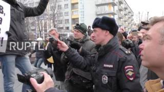 Russia: High security in Yekaterinburg as hundreds join anti-corruption rally