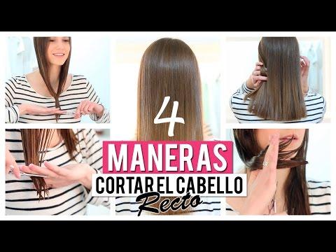Cómo cortar el cabello recto | 4 opciones