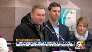 Rally for transgender rights outside City Hall