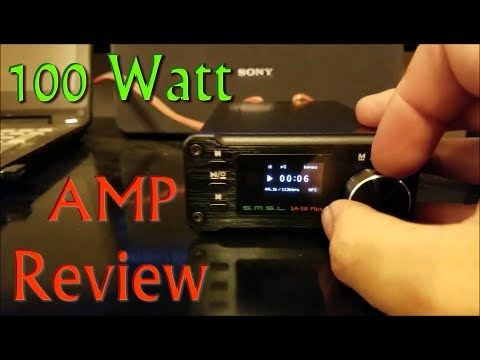 (:Review:) SMSL 50Watt Stereo Amplifier ~SA-50Plus~ Ultra Compact HiFi Amp w/MP3 Playback