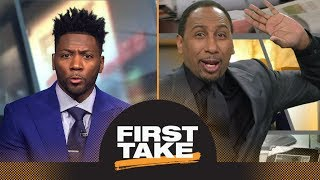 Stephen A. Smith is 'disgusted' with Ryan Clark's AFC playoff race take | First Take | ESPN