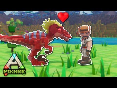 TAMING A RAPTOR! - PixARK Gameplay - Pixark Base Building & Taming!