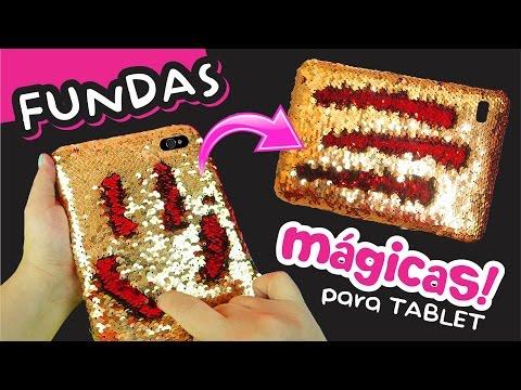 FUNDAS MAGICAS REVERSIBLES totalmente CASERAS para tu Tablet y Celular ★ DIY ★ Así o más fácil ★