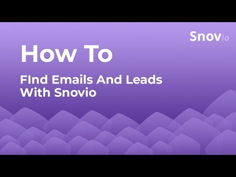 Snovio - Great email finder, verifier, technology search tool -all in one!