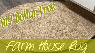 DIY Farmhouse Rug  Under $10 Dollar Tree DIY  How To Make A Rug
