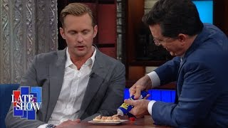 Alexander Skarsgård Challenges Stephen To Eat Swedish Fish Eggs