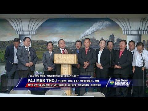 SUAB HMONG NEWS:  Pa Ma Thoj re-elected president for Lao Veterans of Minnesota - 07/09/2017