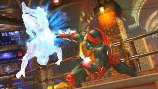 Injustice 2 - TMNT (Ninja Turtles) Raphael Performs All Super Moves/Super Move Swap Mod