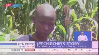 Meet 13 year old Faith Jepchirchir from Elgeyo Marakwet whose picture on a motorcycle went viral
