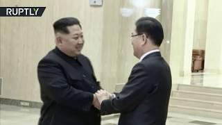 Kim Jong-un welcomes South Korea delegation in Pyongyang