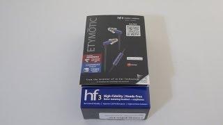 Etymotic hf-3 High-Fidelity In-Ear headphones