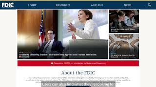 Welcome to the Redesigned FDIC.gov