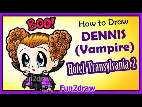 Hotel Transylvania 2 How To Draw Cute Dennis Vampire Boy Fun