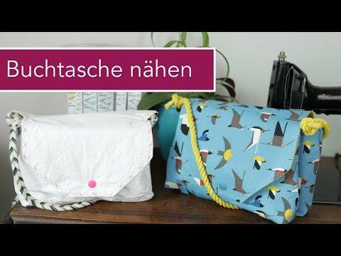 Buchtasche nähen / Handtasche mit Buchfach | Paper Buchreihe Verlosung