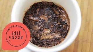 2 dakikada brownie tarifi  idil tatari  yemek tarifleri  brownie mug cake